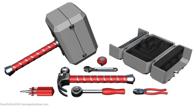 THOR Hammer Tool Kit by Dave's Geeky Ideas